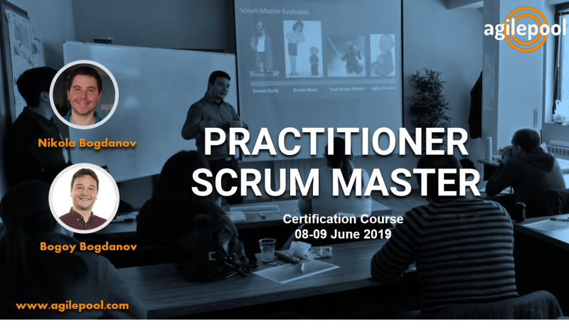 PRACTITIONER SCRUM MASTER COURSE POSTER